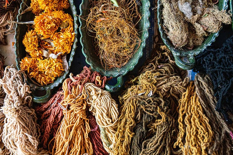 Mexican Rugs In Oaxaca - Natural Dyes 2