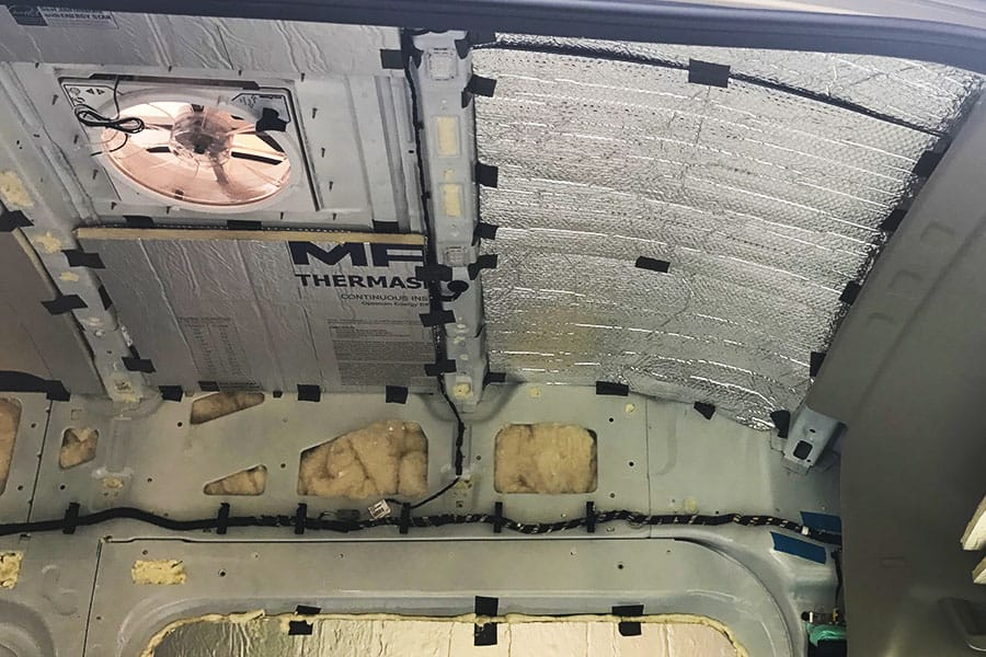 Insulation For Van Conversions - Ceiling Insulation