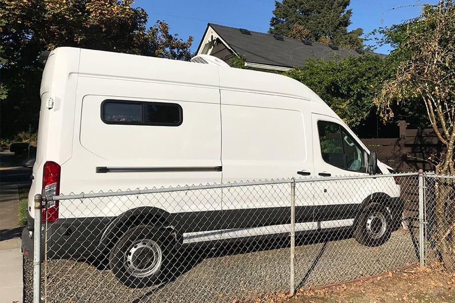 Stealth Campervan - Rear Windows