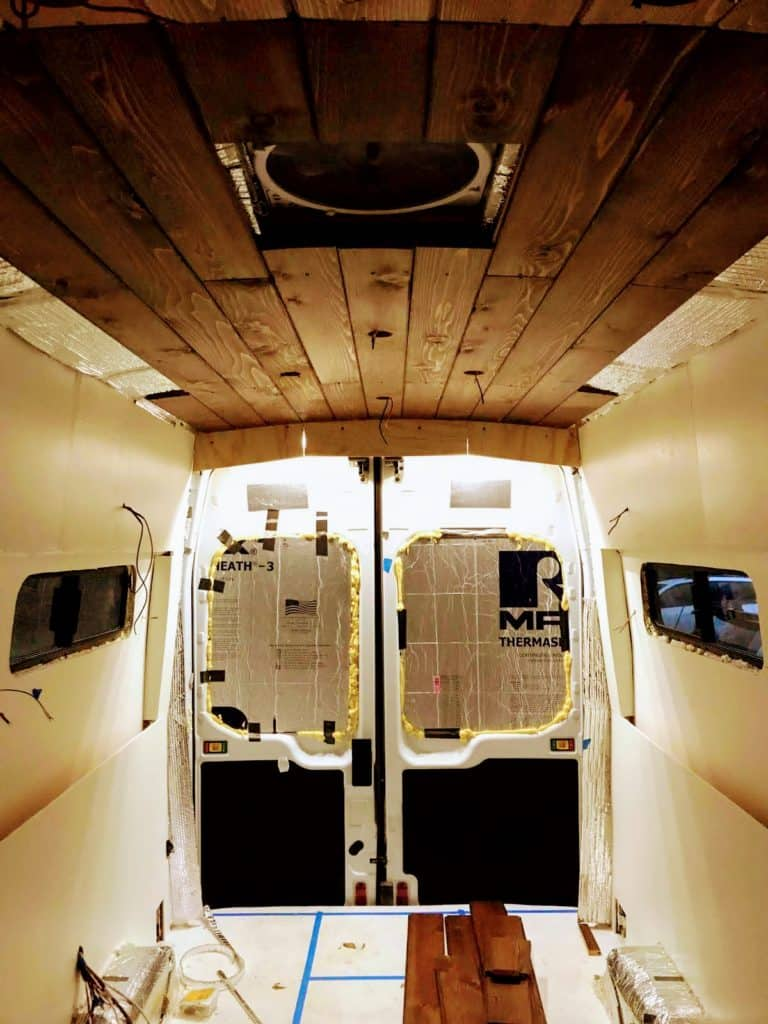 Finished Painting Camper Van Walls