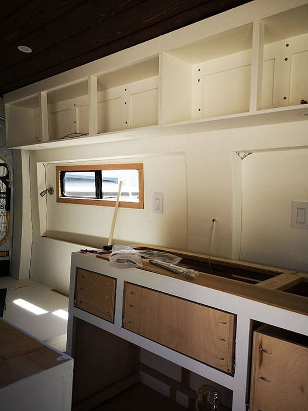 How To Build Strong Upper Cabinets In A Campervan - Frame Finished