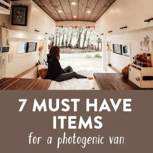 Must Have Items for Camper Van Interior