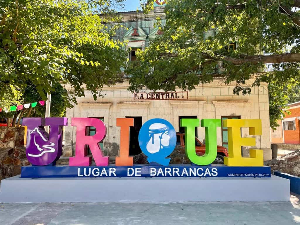 Visiting Copper Canyon - Urique Town Sign