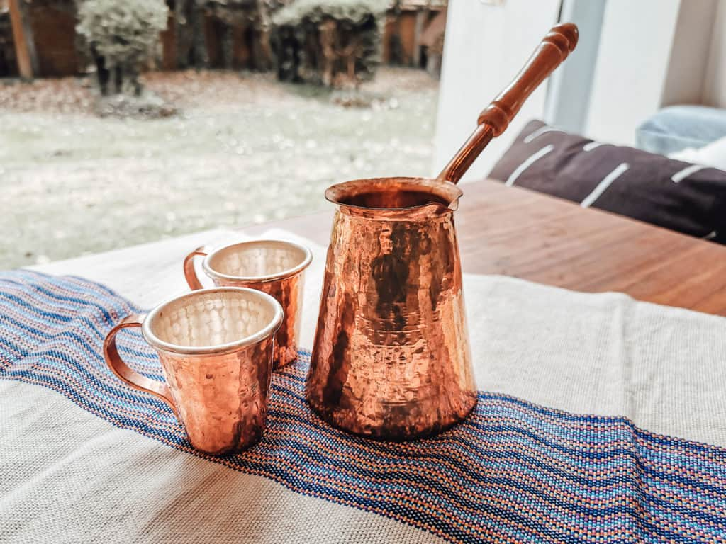 Mexico Shopping Guide - Copper Coffee Pot and Cups