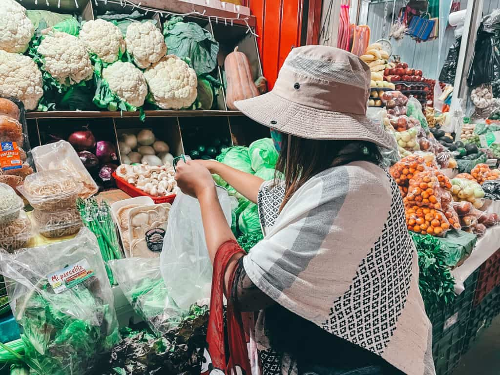 Van Life Mexico Guide - Buying Food in Market