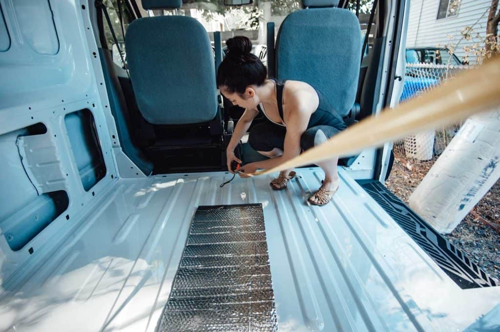 Campervan-First-Layer - Duct-insulation
