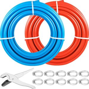 Half Inch PEX Pipes With Cutter And Rings