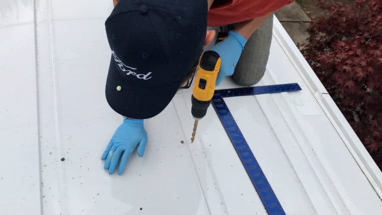 Installing a maxxair fan - drilling at the corners