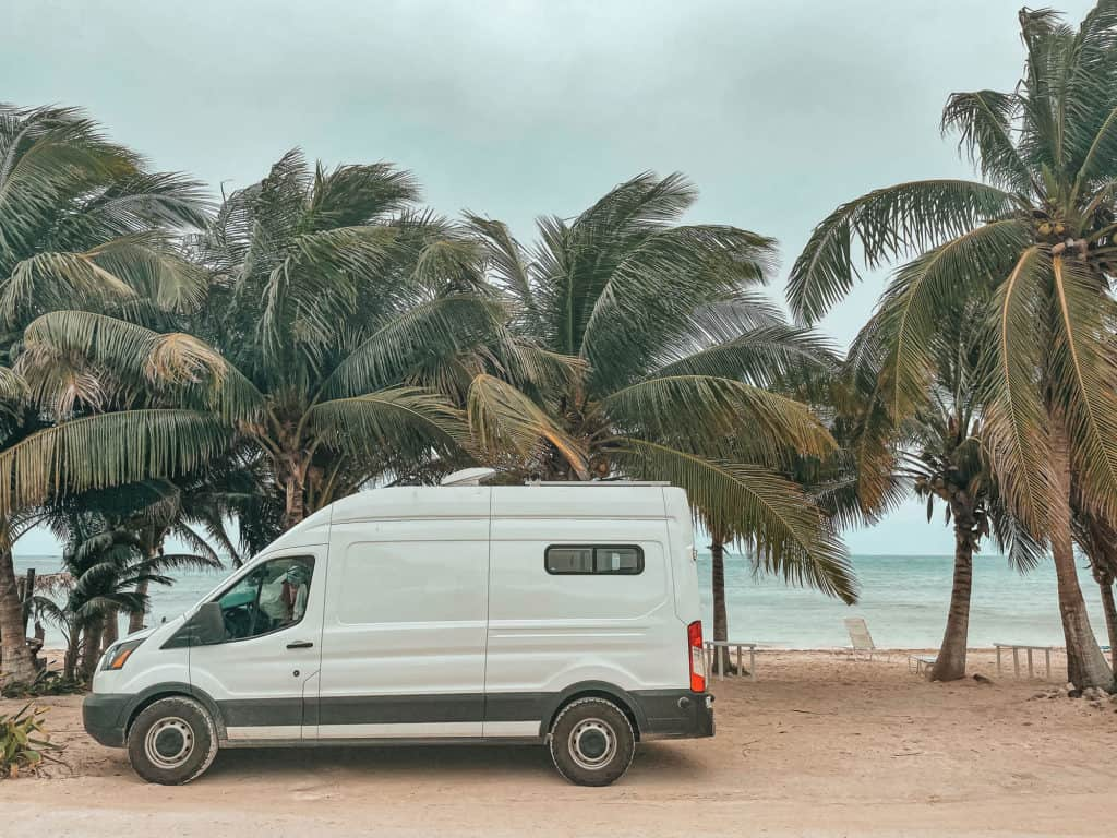 Mexico Road Trip Guide - Parked In Mahahual, Quintana Roo, Mexico