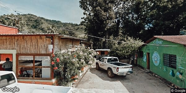Camp Overnight In Mexico - Side of Restaurant