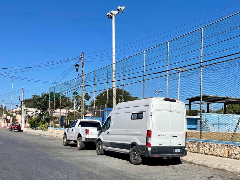 Overnight Camping In Mexico - Street Parking