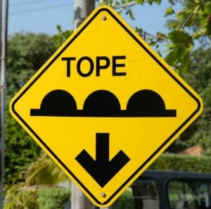 topes - speed bumps in Mexico