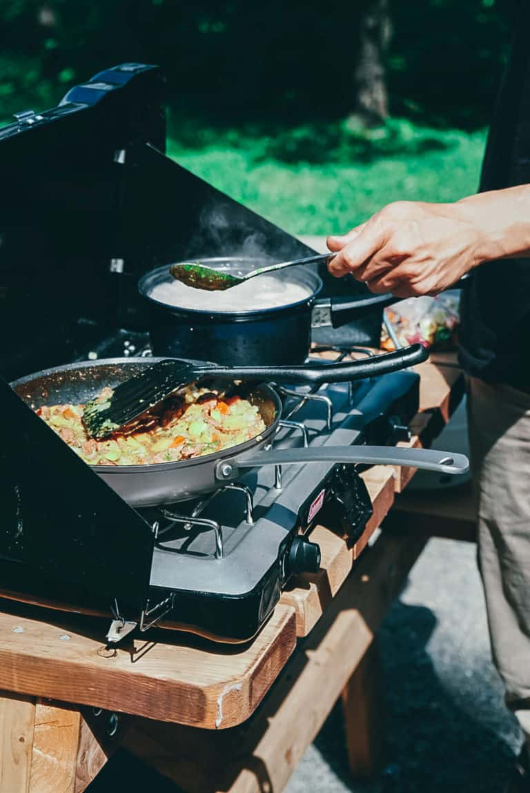 Cooking outside with Coleman - Van Life Essential For Kitchens