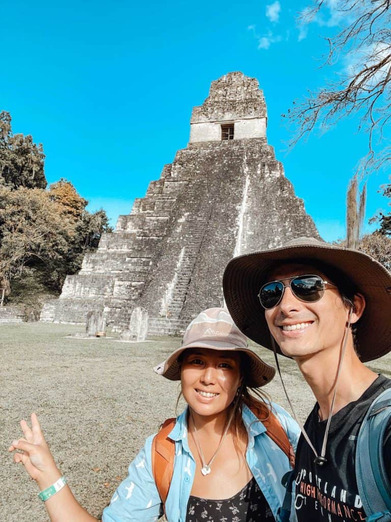 Selfie In Front Of Temple I In Tikal