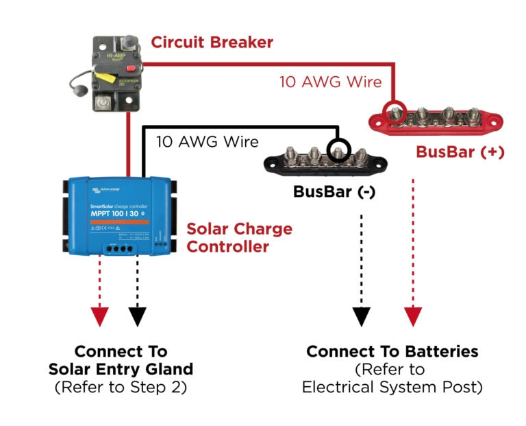 Connecting Solar Charge Controller To Bus Bars - Wiring Diagram