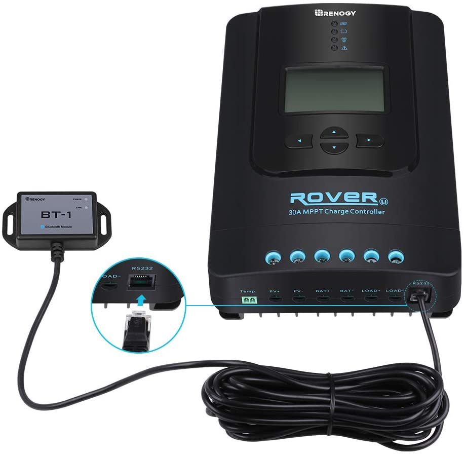 Renogy Rover 30A Solar Charge Controller (with Bluetooth Module)